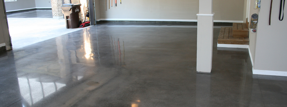 Dayton concrete polishing for Residential concrete floor wax